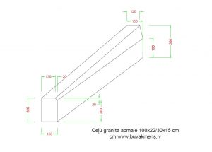 Ceļu granīta apmale 100x22 30x15 cm